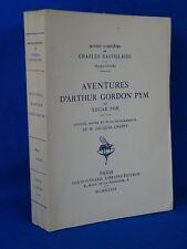 Charles BAUDELAIRE Edgar POE AVENTURES D'ARTHUR GORDON PYM 1934