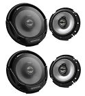 "4 X New Kenwood KFC-1665S 6.5"" 600 Watt 2-Way Car Audio Coaxial Speakers Stereo"