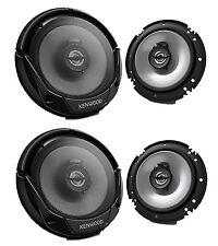 "4 X New Kenwood KFC-1665S 6.5"" 600 Watt 2-Way Car Audio Coaxial Speakers Stereo"