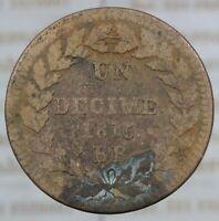 DN - Francia - 1 Decime 1815 - A288-205