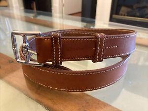 Vintage Hermès Belt - Tan Leather - 95 CM - READ DESCRIPTION