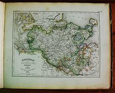 1849 MEYER'S ZEITUNGS-ATLAS=GEOGRAPHICAL MAP:Holstein,Lauenburg, Lubek,Hambug..
