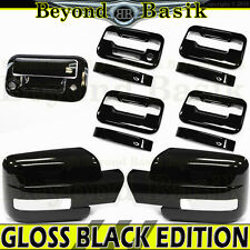 09-14 F150 Crew GLOSS BLACK Door Handle Cover noPK wKP+Mirror wSig+Tailgate wCam