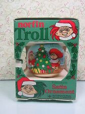 1992 Norfin Troll Christmas Ornament - Dam/International Silver Company - New