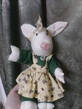 Folk art rabbit bunny primitive doll toy pacifier so cute vintage vtg handmade