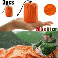 3 Pcs Emergency Sleeping Bag Thermal Waterproof Outdoor Survival Camping Hiking