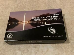 2013 US Mint SILVER Proof Set with original box