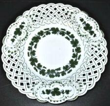 Antique Meissen Porcelain Plate Fine Vintage Basket Weave Ceramic Wedding Gift