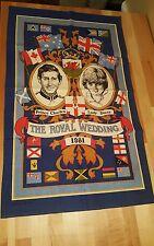 Prince Charles Lady Diana Royal Wedding Tea Towel Linen Britain Clive Mayor