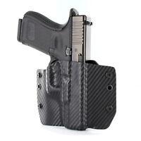Colt, CZ, FN, Diamondback - OWB Kydex Holster - Black Carbon Fiber