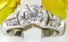 Platinum Plated Cubic Zirconia Solitaire Costume Rings