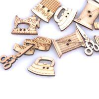 Decorativo Herramienta de costura Scrapbooking Botones de madera DIY carfts