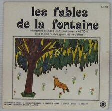 Fables de La Fontaine 45 tours Jean Valton