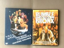 LOT 3 DVD -2DVD -Y-A-T-IL UN FLIC POUR SAUVER L'HUMANITE ?+ RUMBLE IN THE BRONX