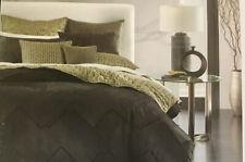 HOTEL COLLECTION King LINEAR CHEVRON Duvet Comforter Cover BLACK $420