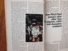 MA-1971 TV Guide(MITCH VOGEL/JACK CASSIDY/SHIRLEY JONES/JOHNNY CASH/KAREN MORROW