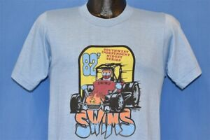 vtg 80s GENE GENNETTEN SOUTHWEST INDEPENDENT MIDGET SERIES DIRT t-shirt RACING S