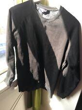 Bridgeport Size Medium Black Round Neck Sweater Jumper (B6)