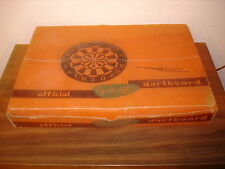 "Vintage Sportcraft Dart Set w/ 5"" Official Unicorn Darts Scotts English in box"