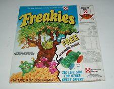 1975 Freakies Cereal Box w/ Freakiemobiles offer - Ralston