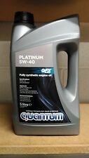 Quantum Platinum 5W-40 Fully Synthetic Engine Oil 5 Litre Bottle