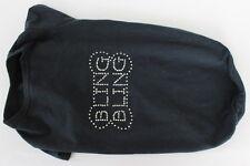 Dog Black BLING BLING Rhinestone T-Shirt Size Medium 95% Cotton % Spandex