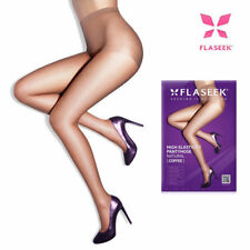 3pcs FLASEEK High Elasticity Pantyhose NATURAL COFFEE Tone Color Leg Wear_Va