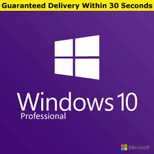 GENUINE WINDOWS 10 PRO 32 / 64BIT ORIGINAL LICENSE KEY SCRAP PC