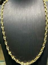 "Solid Anchor Chain 14ct Yellow Geniune Gold 6mm Wide Men's Ladies 22"" Brand NEW"