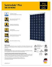 Solarworld, 270 Watt, Mono, Silver Frame QTY 30 FULL PALLET