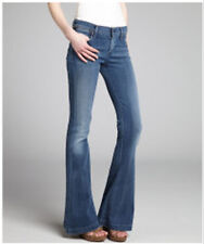 NWOT Citizens of Humanity Stretch Denim Flare Wide Legs Dark Wash Jeans Size 25