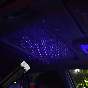 1x Universal Car Interior Atmosphere Star Night Lamp LED Decor Projector Light