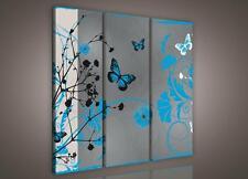 LEINWANDBILD WANDBILD CANVAS BILDER Blaue Schmetterlinge 3FX993S6