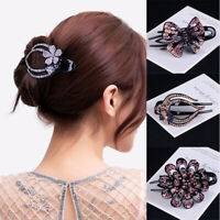 Hairpin Hair Clips Pins Flower Women Hair Grips Accessories Slide Comb  Crystal