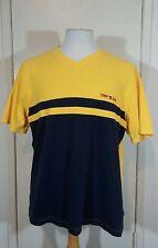 Vintage Tommy Hilfiger 100% Cotton Yellow Navy Blue T-Shirt Size XL