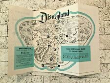 Vintage 1956 Disneyland Guide / Brochure with Fold-out Map