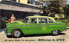 Chicago IL Checker Taxi Cab Company Advertising Postcard
