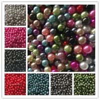 500-10000pcs 6/8/10mm No Hole Pearl Round Spacer Loose Beads 16 Color