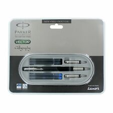 Parker Vector Calligraphy CT Ink / Fountain Pen, Black Body, + 4 Free Cartridges