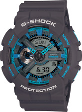 Casio G-Shock GA110TS-8A2 Men's Ana-Digital Blue with Dark Grey Resin Band Watch