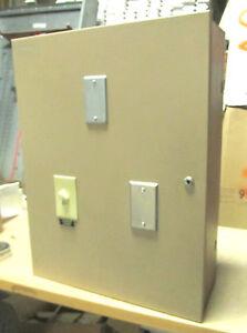 * Lighting Control Box w/ Twin Furnas Contactors Cat# 42BE35AJ106 ... ENCL-1005