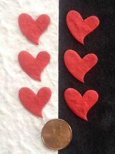 50 Hearts heart Red Handmade Mulberry Paper Valentine wedding Scrapbooks Cards