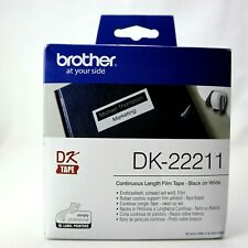 Brother DK-22211 Durable Film Continuous Length Tape(29mmx15.24M)-Black on White