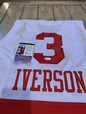 182563db0da Allen Iverson Autographed Signed Jersey JSA COA Bethel HS Philadelphia 76ers