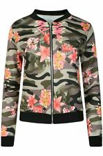 Polyester Camouflage Waist Length Coats & Jackets for Women