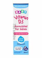 La vitamina D Mini gotas para recién nacido bebé de 0 a 12 meses 30ml, 100% vegetarianos