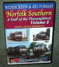 "20209 TRAIN VIDEO DVD ""NORFOLK SOUTHERN VOL. 8 NEW CASTLE DISTRICT"" WIDESCREEN"