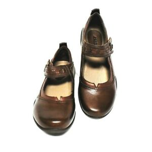 Earth Angelica Womens 8 M Mary Jane Shoes Brown Leather Closed Back Flats NEW