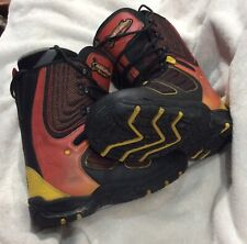 Bombardier Ski-Doo Snowmobile Boots Men's Size 9 Black Yellow Red