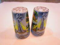 VTG Allard Yellowstone Park Souvenir Ceramic Salt or Pepper Shakers JAPAN